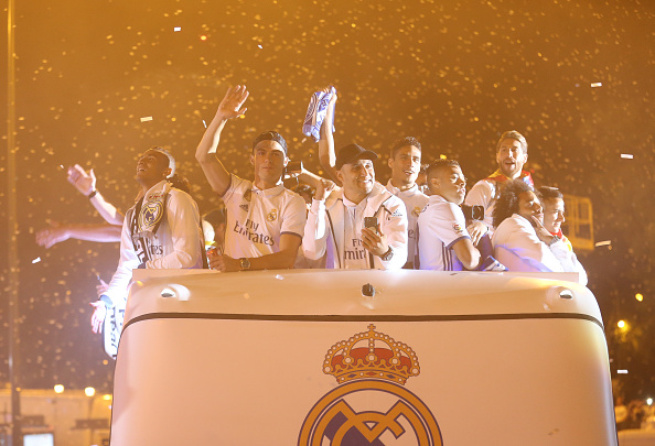 Real Madrid Celebrate Winning La Liga : News Photo