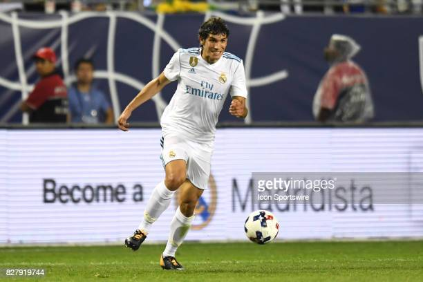 Real Madrid defender Jesus Vallejo controls the ball in the second half during a soccer match between the MLS AllStars and Real Madrid on August 2 at...