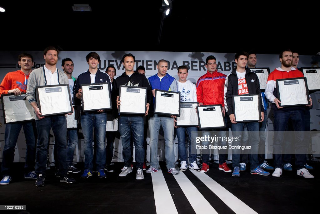 Real Madrid Players Attend Adidas Store Re-Opening