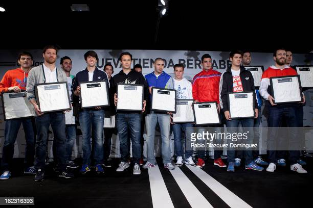 Real Madrid football and basketball players Iker Casillas Xabi Alonso Alvaro Arbeloa Ricardo Kaka Angel Di Maria Ricardo Carvalho Jose Callejon Karim...