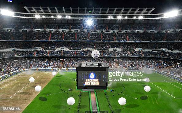 Real Madrid Football Club celebrates the UEFA Champions League after winning the final match against Club Atletico de Madrid on May 29 2016 in Madrid...