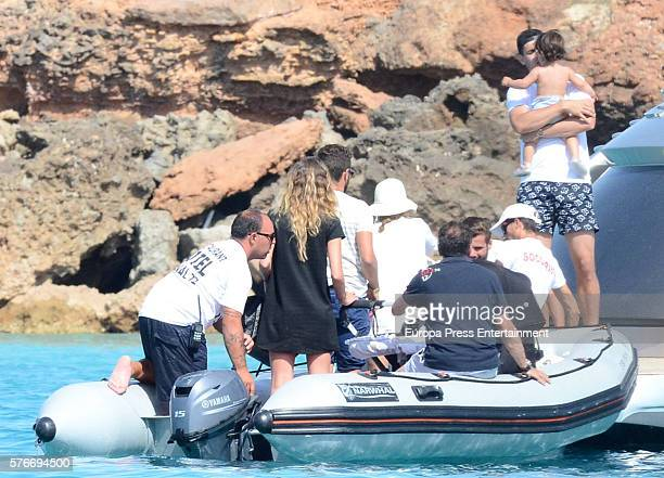 Real Madrid football player Alvaro Morata and Alice Campello are seen on June 30 2016 in Ibiza Spain