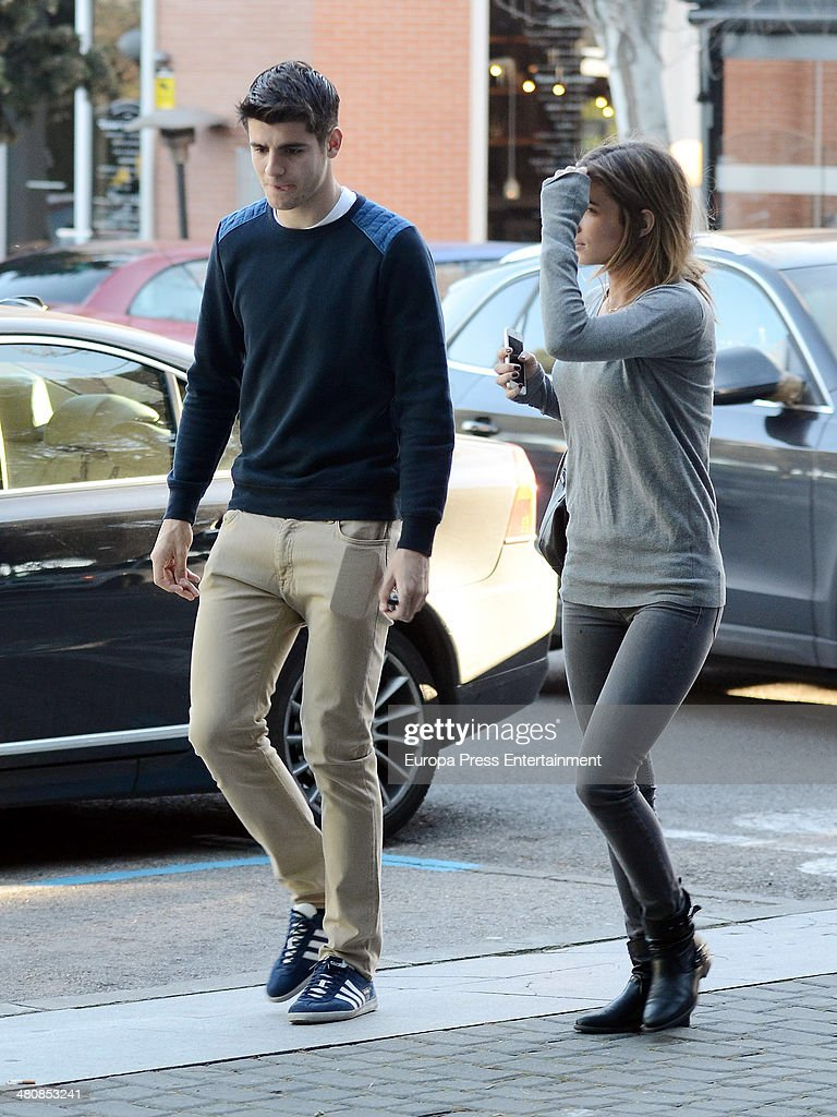 Alvaro Morata and Maria Pombo Sighting In Madrid March 05 2014