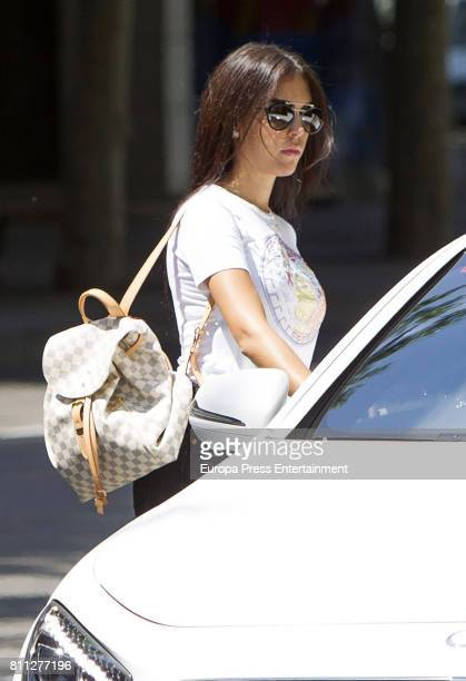 Real Madrid football player Cristiano Ronaldo's girlfriend Georgina Rodriguez is seen on June 1 2017 in Madrid Spain