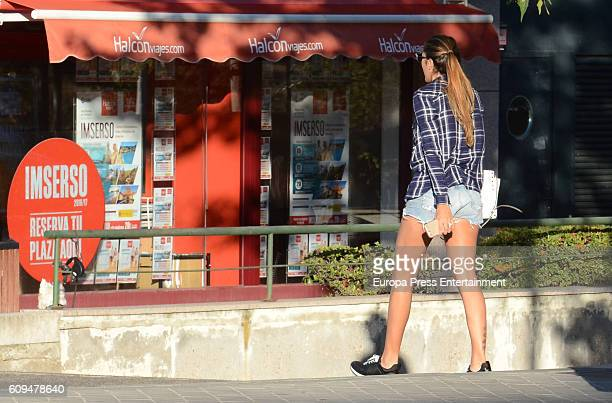 Real Madrid football player James Rodriguez's wife Daniela Ospina is seen on September 20 2016 in Madrid Spain