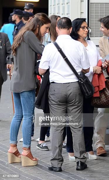 Real Madrid football player Javier Hernandez 'Chicharito's parents Javier Hernandez 'Chicharo' and Silvia Balcazar and his girlfriend Lucia Villalon...
