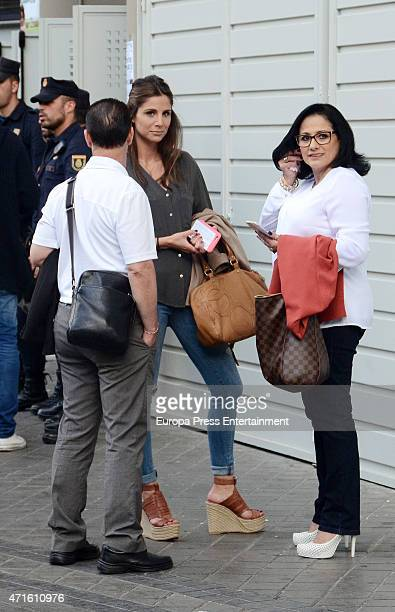 Real Madrid football player Javier Hernandez 'Chicharito's parents Javier Hernandez 'Chicharo' and Silvia Balcazar and his girlfriend Lucia Villalon...