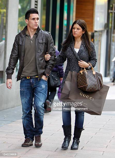 Real Madrid football player Jose Maria Callejon is seen on November 24 2011 in Madrid Spain