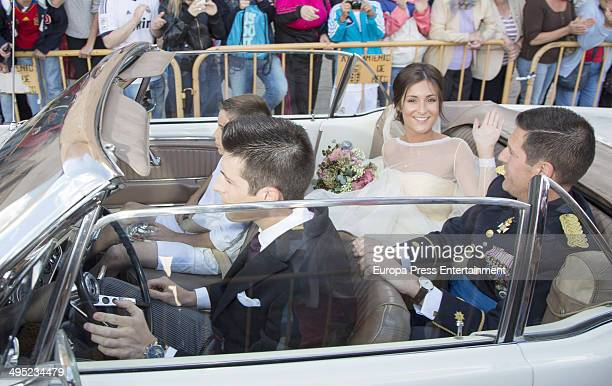 Real Madrid Football Player Nacho Fernandez And Maria Cortes Wedding on May 31 2014 in Madrid Spain