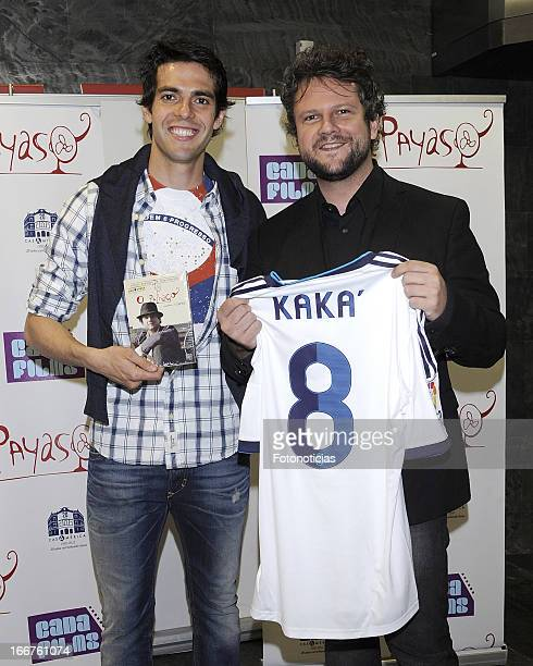 Real Madrid football player Ricardo Izecson dos Santos Leite Kaka and actor/director Selton Mello attend the premiere of 'El Payaso' at Proyecciones...