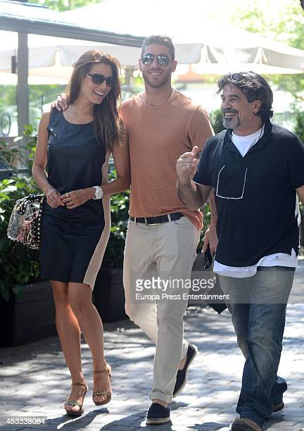 Real Madrid football player Sergio Ramos and Pilar Rubio are seen on July 22 2014 in Madrid Spain