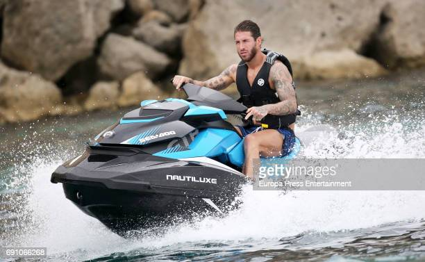 Real Madrid football player Sergio Ramos is seen on May 29 2017 in Ibiza Spain