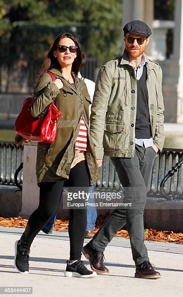 Real Madrid football player Xabi Alonso and Nagore Aramburu are seen on November 6 2013 in Madrid Spain
