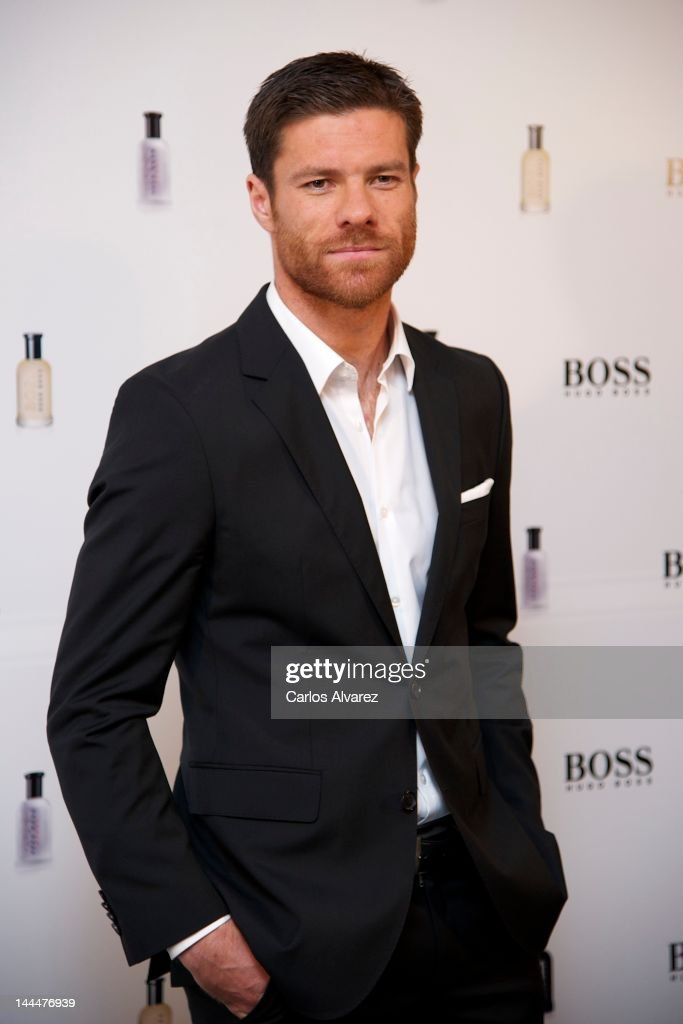 Real Madrid football player Xabi Alonso presents 'Success Beyond The Game' By Hugo Boss at Villamagna Hotel on May 14 2012 in Madrid Spain