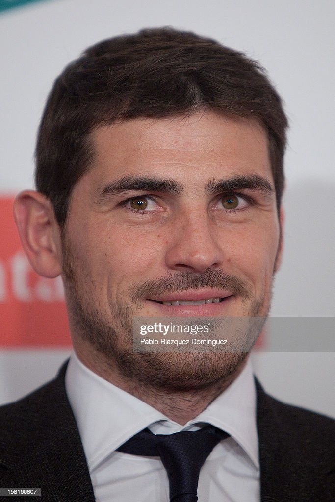 Real Madrid goalkeeper Iker Casillas attends 'As Del Deporte' Awards 2012 at The Westin Palace Hotel on December 10, 2012 in Madrid, Spain.