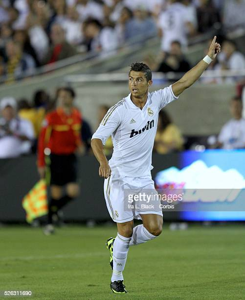 Real Madrid player Cristiano Ronaldo during to the Herbalife World Football Challenge Friendly match between LA Galaxy and Real Madrid Real Madrid...