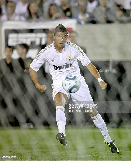 Real Madrid player Cristiano Ronaldo tries for the goal during the Herbalife World Football Challenge Friendly match between LA Galaxy and Real...