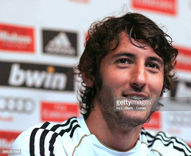 Real Madrid player Esteban Granero during the team Press Conference in preparation for the Friendly Match against the LA Galaxy as part of the...