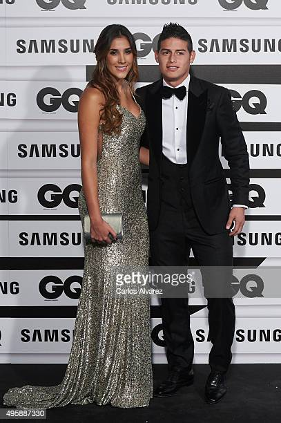 Real Madrid player James Rodriguez and Daniela Ospina attend the GQ Men of The Year 2015 Awards at the Palace Hotel on November 5 2015 in Madrid Spain