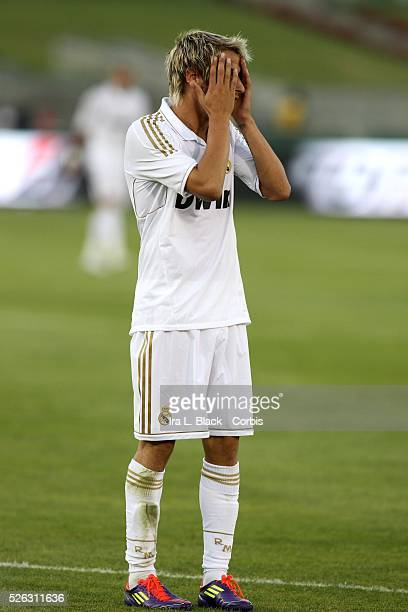 Real Madrid player Jose Coentrao during the Herbalife World Football Challenge Friendly match between LA Galaxy and Real Madrid Real Madrid won the...