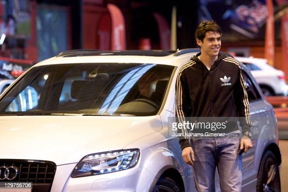 Real Madrid Player Kaka Receives A New Audi Car At Carlos Sainz