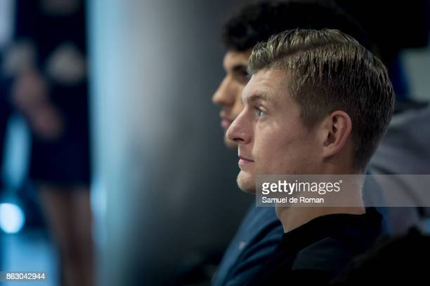 Real Madrid player Toni Kroos during the Real Madrid and Exness partnership presentation at Estadio Santiago Bernabeu on October 19 2017 in Madrid...