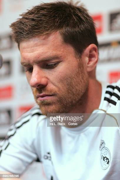 Real Madrid player Xabi Alonso during the team Press Conference in preparation for the Friendly Match against the LA Galaxy as part of the Herbalife...