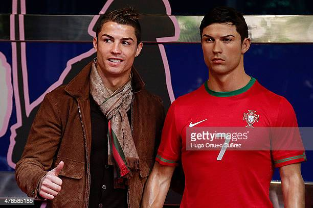 Real Madrid striker Cristiano Ronaldo unveiled his wax figure adding to the more than 450 on display at the Wax Museum of Madrid Football player...