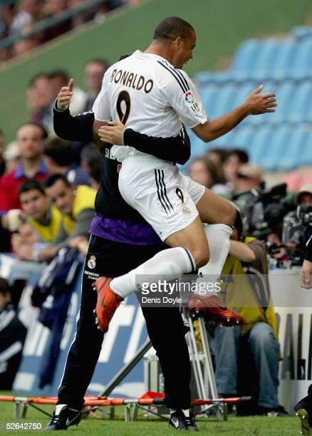 Real Madrid striker Ronaldo celebrates after scoring a goal in a La Liga soccer match between Levante and Real Madrid at the Ciutat de Valencia...