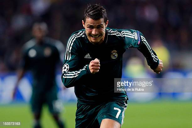 Real Madrid's Cristiano Ronaldo during the UEFA Champions League Group D match between Ajax Amsterdam and Real Madrid at Amsterdam Arena on October 3...