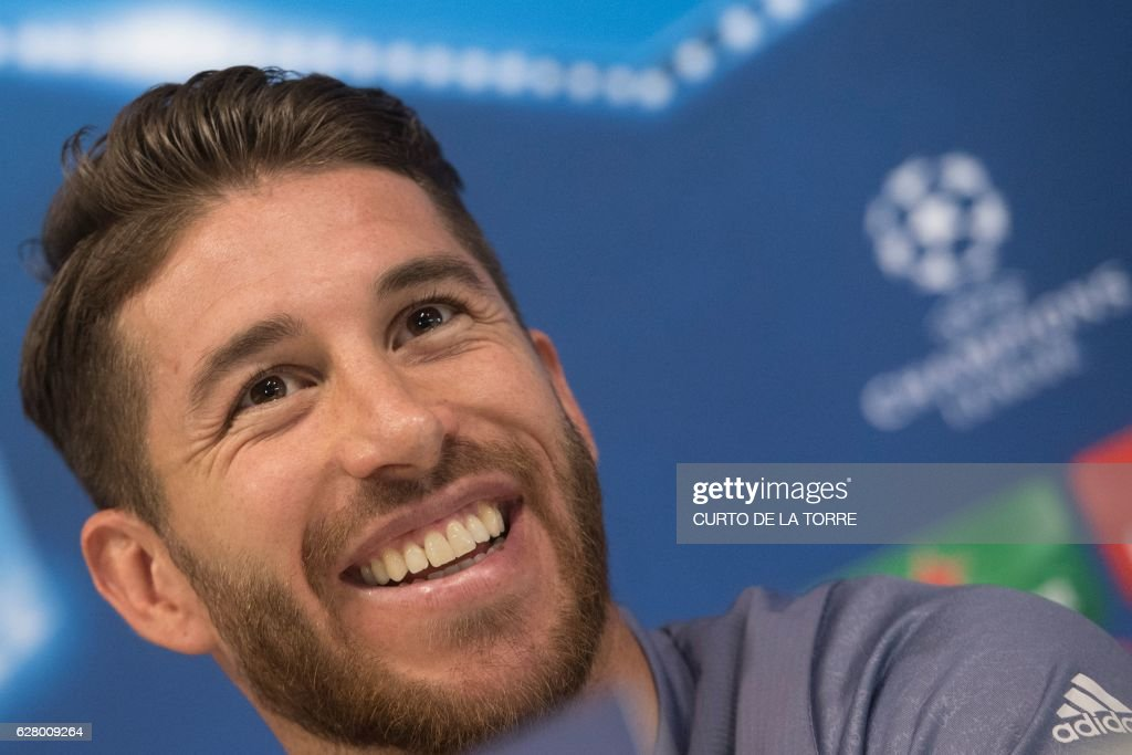 Image result for Sergio Ramos in Press conference smiling