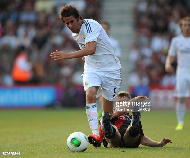 Real Madrid's Fabio Coentrao in action against Bournemouth
