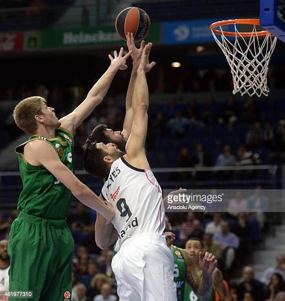 Real Madrid's Felipe Reyes in action during the Turkish Airlines Euroleague Top 16 Round 4 basketball match between Real Madrid and Panathinaikos at...
