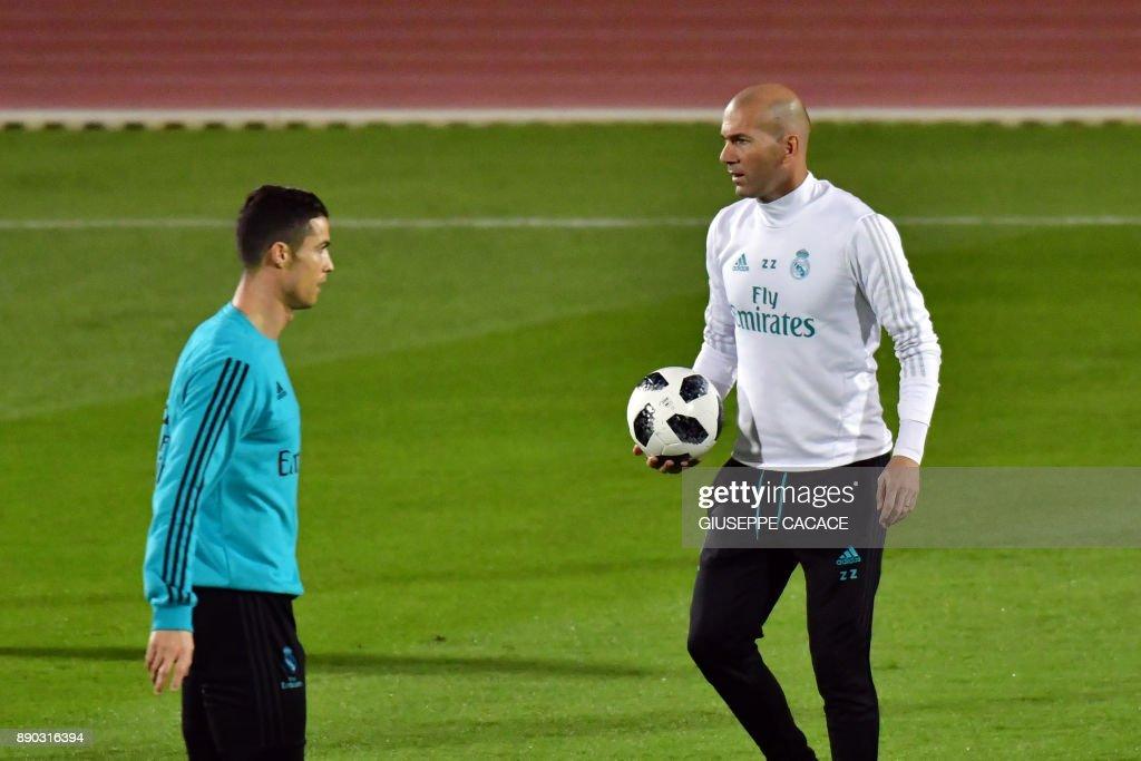 Real Madrid training in Abu Dhabi prior to their FIFA Club World Cup semi-final
