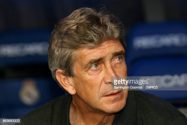 Real Madrid's head coach Manuel Pellegrini