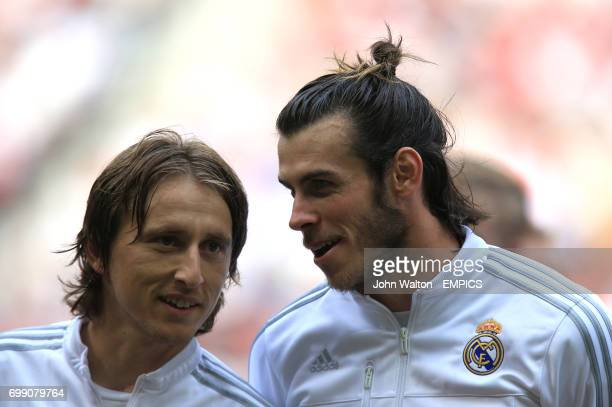 Real Madrid's Luka Modric and Gareth Bale