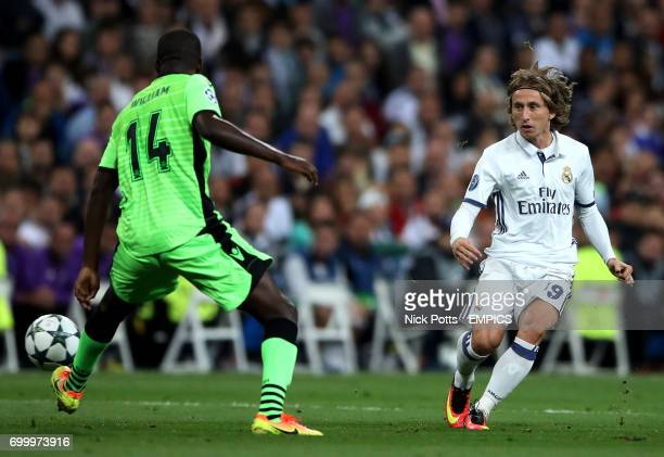 Real Madrid's Luka Modric in action