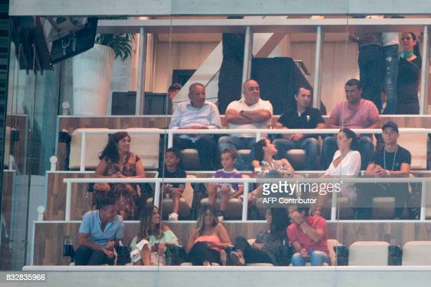 Real Madrid's Portuguese forward Cristiano Ronaldo attends the second leg of the Spanish Supercup football match Real Madrid vs FC Barcelona at the...