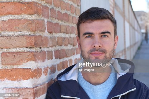 Real man close up isolated : Stock Photo