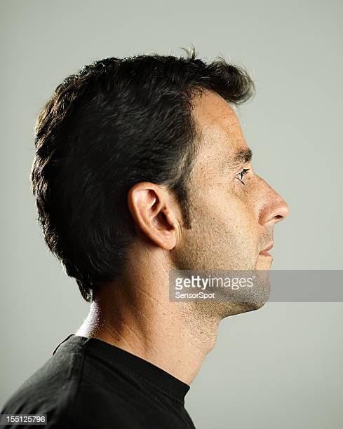 Profil homme réel