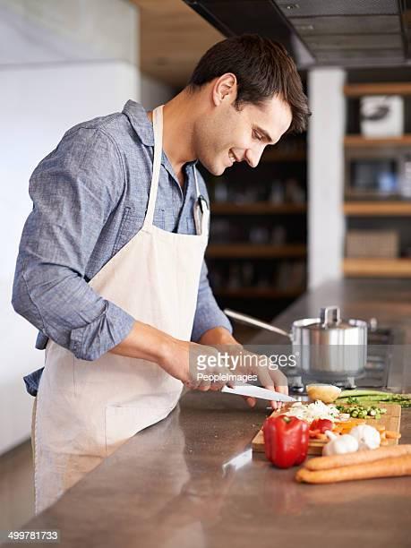 Real men cook!