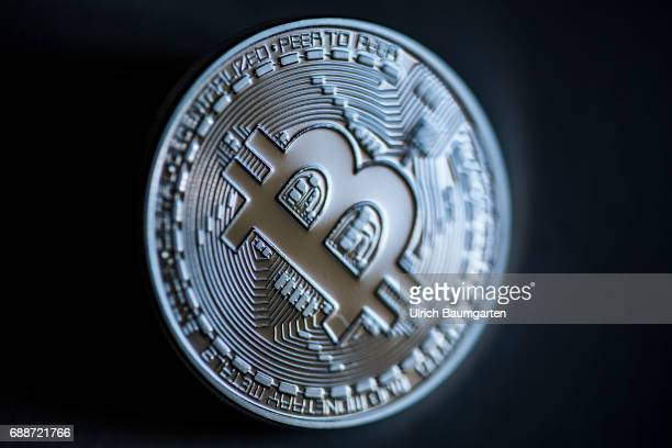 Real money or digital crooks money The photo shows a Bitcoin