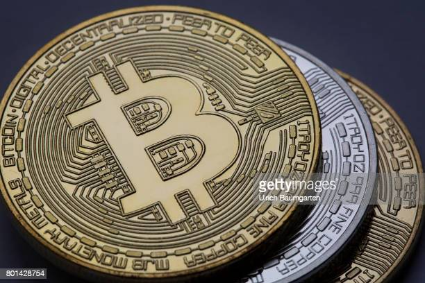 Real money or digital crooks money The photo shows Bitcoins physically