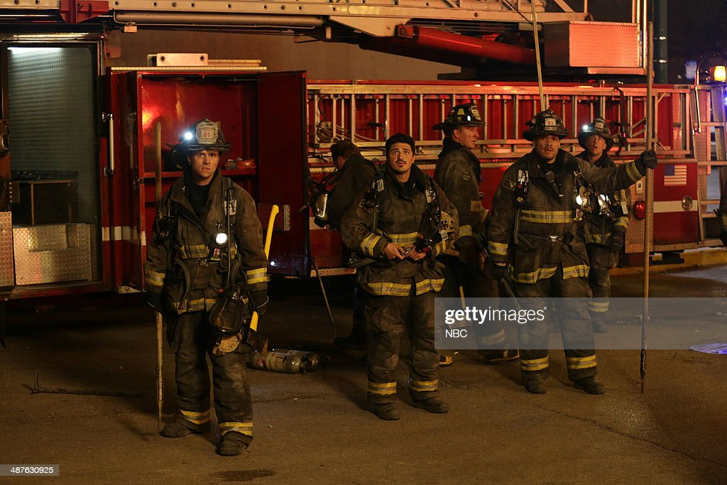 FIRE -- 'Real Never Waits' Episode 222 -- Pictured: (l-r) <a gi-track='captionPersonalityLinkClicked' href=/galleries/search?phrase=Jesse+Spencer&family=editorial&specificpeople=630230 ng-click='$event.stopPropagation()'>Jesse Spencer</a> as Matthew Casey, Yuri Sardarov as Otis, Joe Minoso as Joe Cruz, <a gi-track='captionPersonalityLinkClicked' href=/galleries/search?phrase=David+Eigenberg&family=editorial&specificpeople=1670415 ng-click='$event.stopPropagation()'>David Eigenberg</a> as Christopher Herrmann --