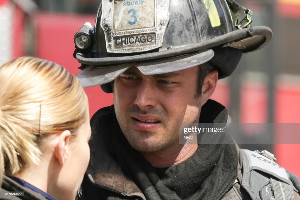 FIRE -- 'Real Never Waits' Episode 222 -- Pictured: (l-r) <a gi-track='captionPersonalityLinkClicked' href=/galleries/search?phrase=Lauren+German&family=editorial&specificpeople=693304 ng-click='$event.stopPropagation()'>Lauren German</a> as Leslie Shay, <a gi-track='captionPersonalityLinkClicked' href=/galleries/search?phrase=Taylor+Kinney&family=editorial&specificpeople=747018 ng-click='$event.stopPropagation()'>Taylor Kinney</a> as Kelly Severide --