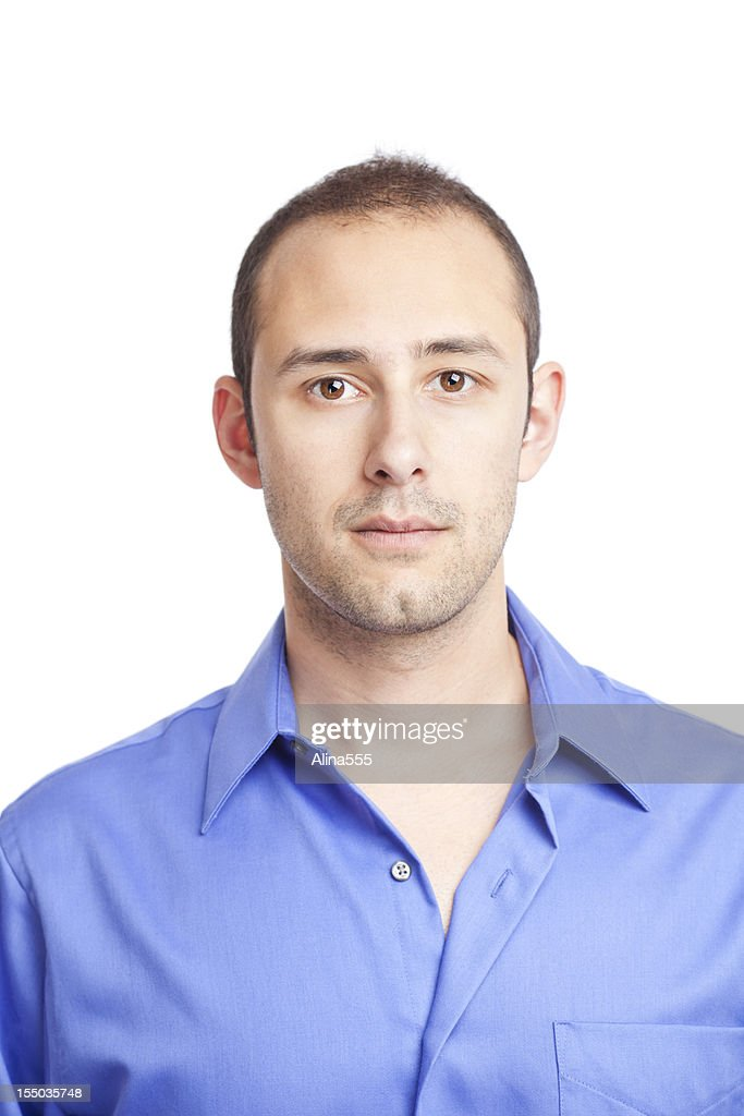 Real people: casual portrait of a man on white