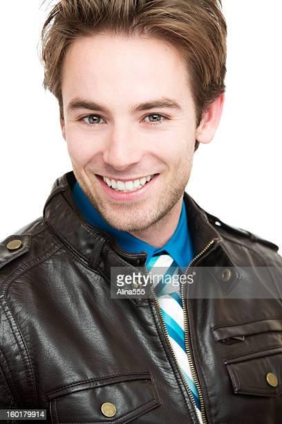 Real Personen: Portrait von schöner junger Mann