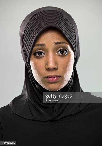 Real People: Sad Muslim Young Woman