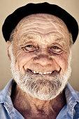 Real People: Smiling Senior Man Portrait