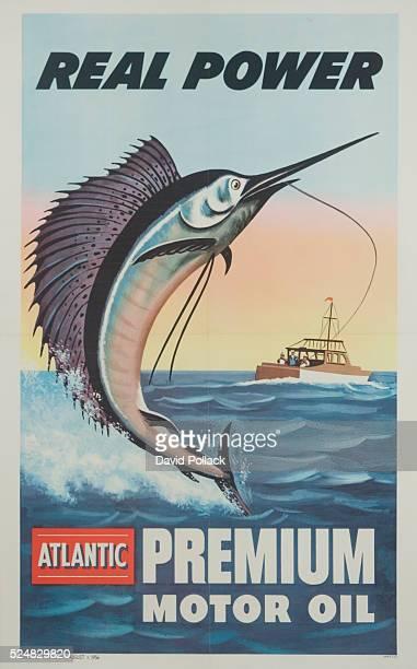 Real Power Atlantic Premium Motor Oil Poster